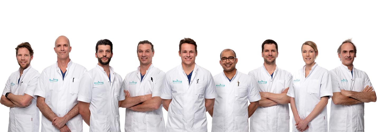slider groepsfoto blooming - Plastische chirurgie